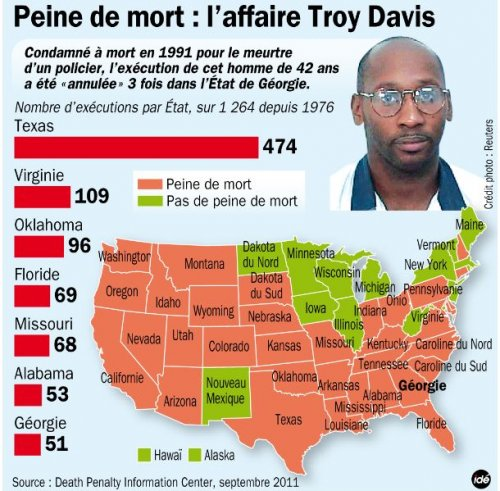 usa 22 septembre 2011 le blanc obama n 39 a rien fait pour sauver le noir troy davis vive la. Black Bedroom Furniture Sets. Home Design Ideas